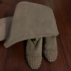 Louboutin Suede Spike Boots. Great condition.